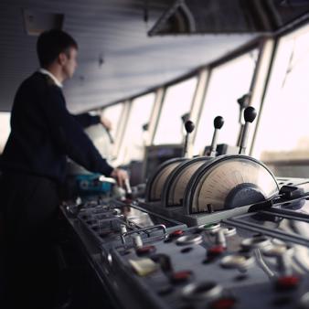 Captain on a ship