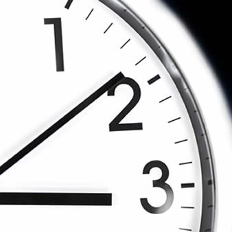 A ticking clock tracking time