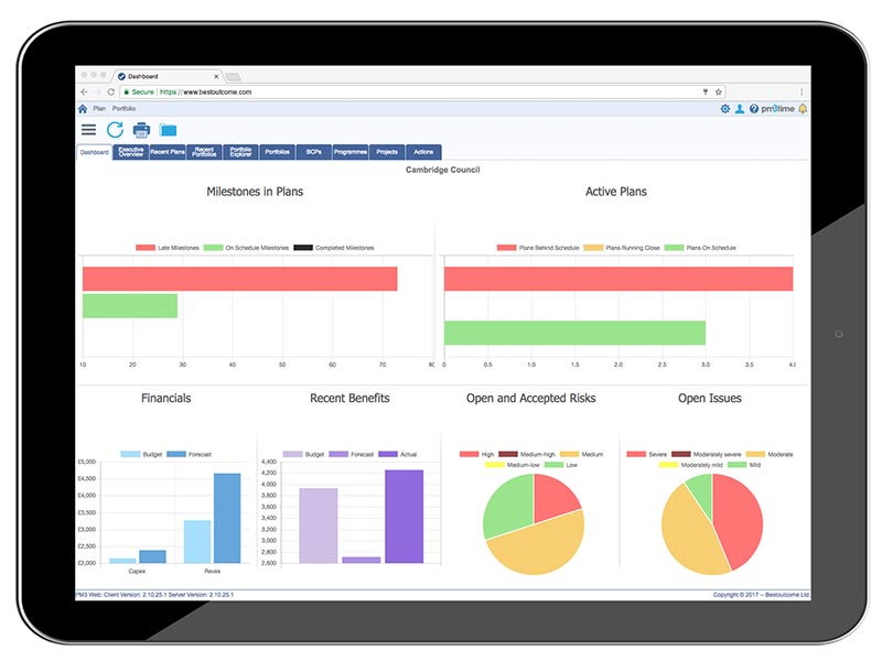 PM3Cloud tablet dashboard image