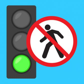 Traffic light warning sign
