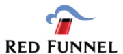 The red funnel ferry logo showing a red funnel with a black rim above the typeface of the name
